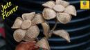 How to Make Jute Flower | DIY Rope Flower | Jute Craft Decoration Design