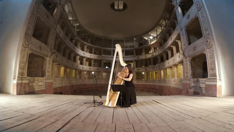 1001 (2) J. S. Bach - Sonata No.1 in G minor, BWV 1001 2. Fuga - Flora Papadopoulos, harp