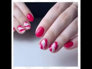 Красивый дизайн для коротких ногтей