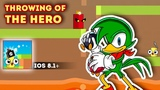 Throwing of the HERO - Gameplay iOS. Throw a weapon and defeat the enemy.