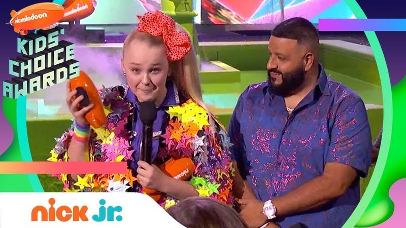 JoJo Siwa WINS Social Music Star Celebrates w DJ Khaled | 2019 Kids Choice Awards | Nick Jr.