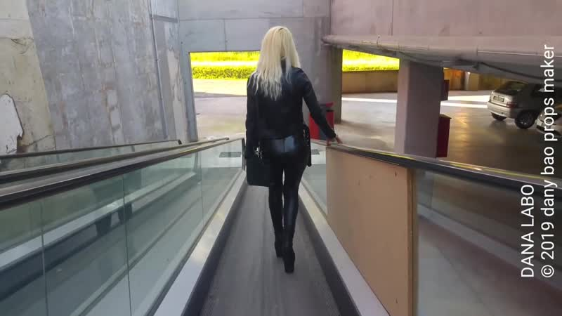 DANA LABO work walk in leather boots leggings and jacket