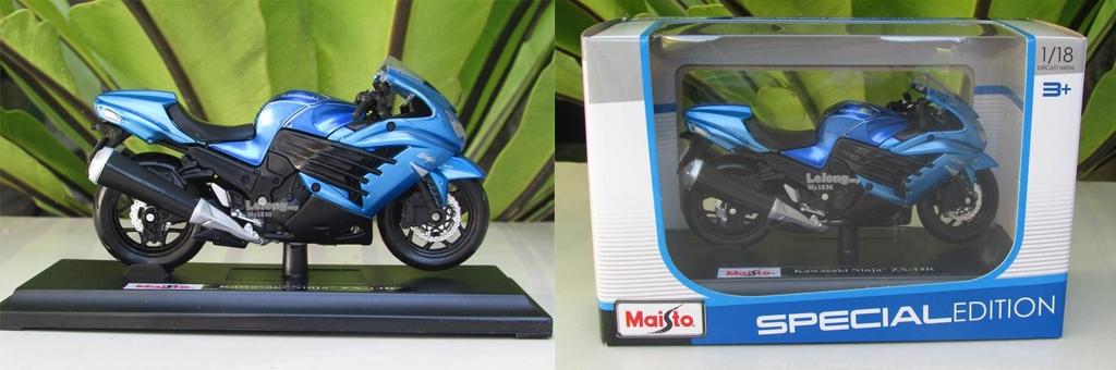 Сборная модель Maisto Kawasaki Ninja ZX-14 42013