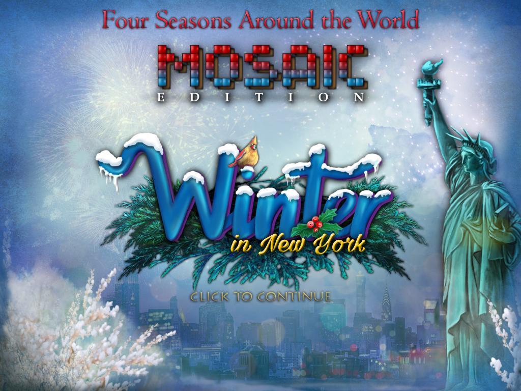Четыре сезона разных стран мира: Зима в Нью-Йорке. Мозаичное издание | Four Seasons Around the World. Winter in New York (En)