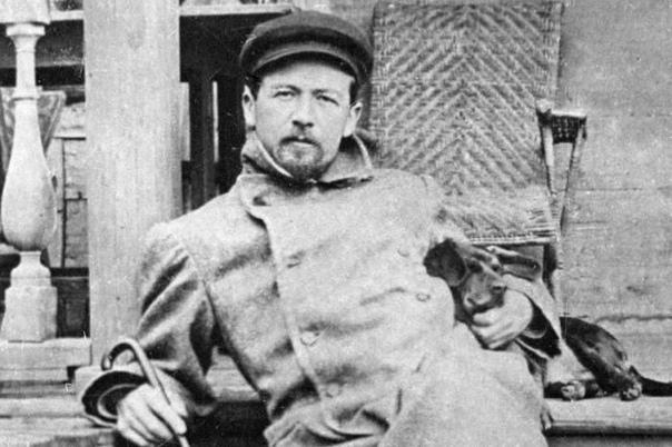 Антон Палыч Чехов с собачкой, 1897 год, Мелихово.
