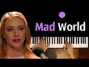 Mad World (OST Riverdale) ● караоке| PIANO_KARAOKE ● ᴴᴰ НОТЫ MIDI | orig. Gary Jules