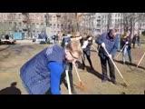 Субботник в Некрасовском саду при участии главы Центрального района Максима Мейскина