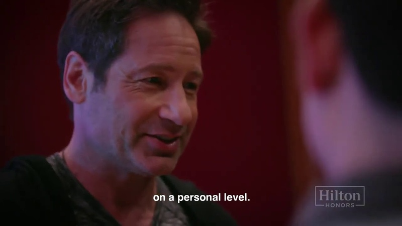 David Duchovny hosts private studio session for Hilton Honors Members