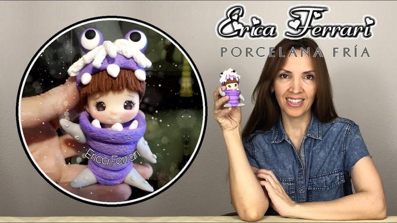 🐶 Erica Ferrari Porcelana Fría Boo de Monster Inc Clase Gratis DIY Tutorial Fácil