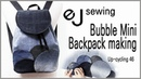 Up cycling - 46/up cycle/청바지 배색 미니 백팩/Bubble Mini Backpack making