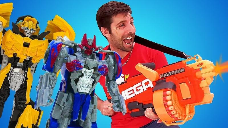 L'usine des héros. Les transformers avec Toy Master. Vidéo pour enfants