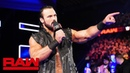 The «Kingslayer»: Drew McIntyre interrupts Brock Lesnar and Paul Heyman: Raw, March 18, 2019