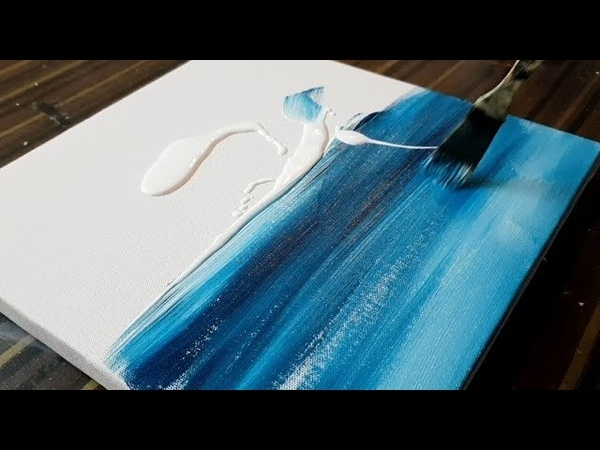 Making of Easy Abstract Painting / Sail Boat / Seascape / Acrylics / Project 365 days / Day 0151