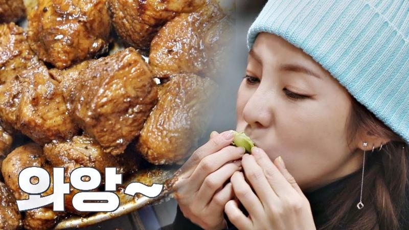 와앙>0< 돼지 불고기님 영접하는 황보(Hwangbo)x제아(JeA)x산다라박(Sandara Park) 바람난 언니