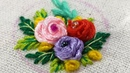 How to make Twirled Ribbon Roses - Hand Embroidery Design