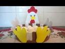 Galinha porta ovos com rolinho de E V A Rápido e Fácil de fazer