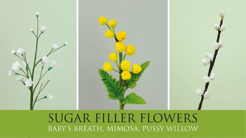 How to Make Baby's Breath Mimosa Pussy Willow Sugar Filler Flowers Part 3