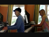 Lara plays Rebecca Black and Nyan Cat AT THE SAME TIME on piano