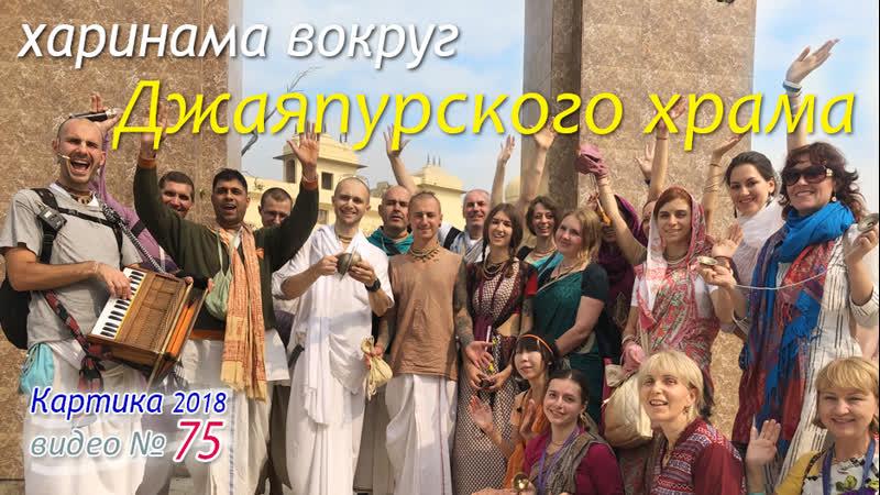 Харинама вокруг Джаяпурского храма. Киртан - Ачарья д. Видео № 75. 2018.11.10