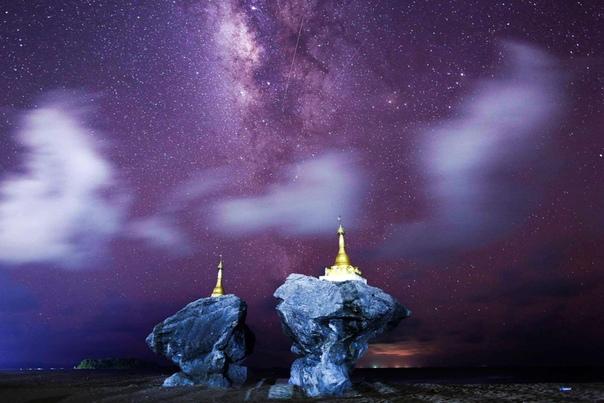Млечный Путь над Мьянмой.