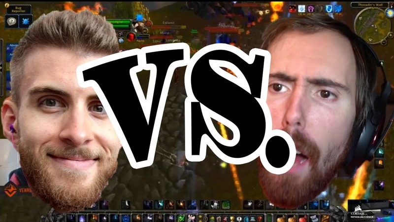 Venruki vs. Asmongold (100 player WoW classic PvP brawl)