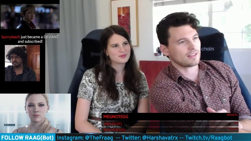 Bryan Dechart plays RED CONNOR Stream 4 Detroit Become Human with Amelia Rose Blaire Traci