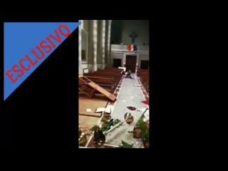 """Gianni tonelli  """"c'è sangue ovunque, è devastata"""". a cesena due romeni danneggiano la chiesa"""