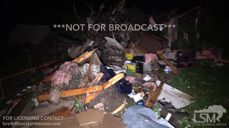 5 22 19 Golden City, Mo Deadly Tornado 3 Fatalities Tornado Damage Mobile Home Thrown Sirens in Sali