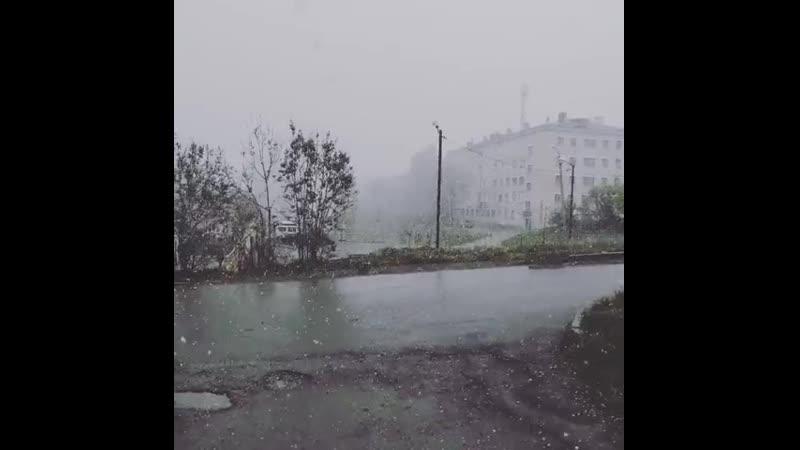 Весенний снежок Соликамск