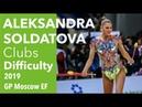 Aleksandra Soldatova Clubs Difficulty 2019 GP Moscow