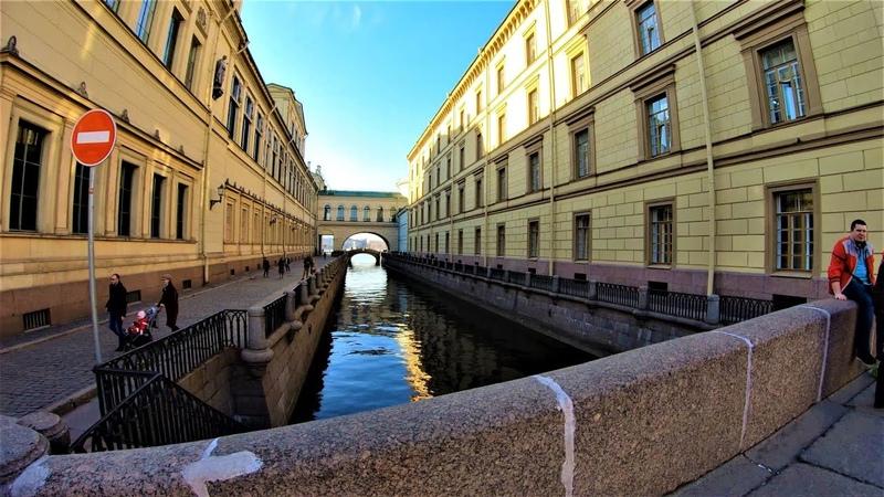 Санкт-Петербург - Прогулка по Миллионной улице 4К