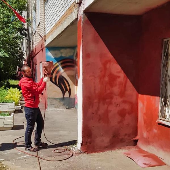 Покрасили фасад в Северном, 21А