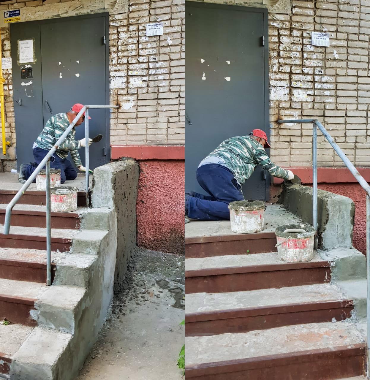Приступили к ремонту крылец в Северном, 16
