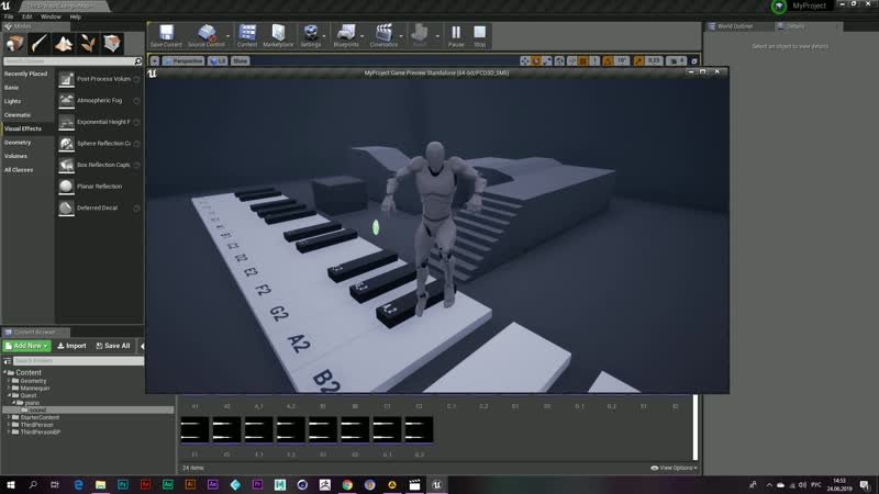 Unreal engine 4 - piano from fortnite)