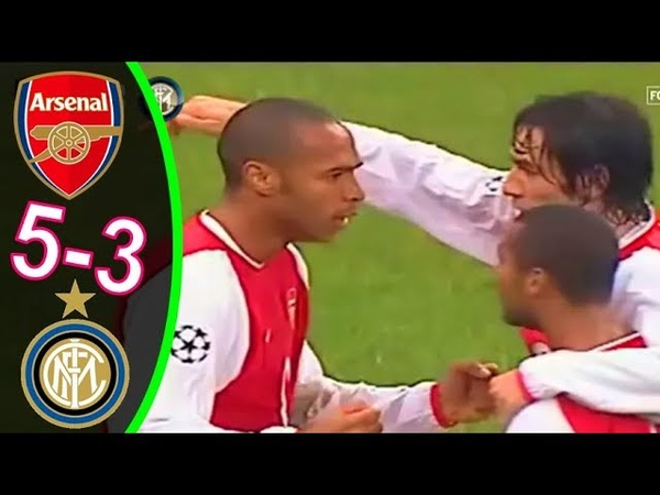 Arsenal vs Inter Milan 5-4 UCL Highlight 2003-2004 | Home-Away
