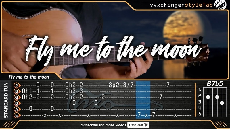 Fly Me To The Moon - Frank Sinatra (Fingerstyle Guitar Cover) Free TAB Tutorial