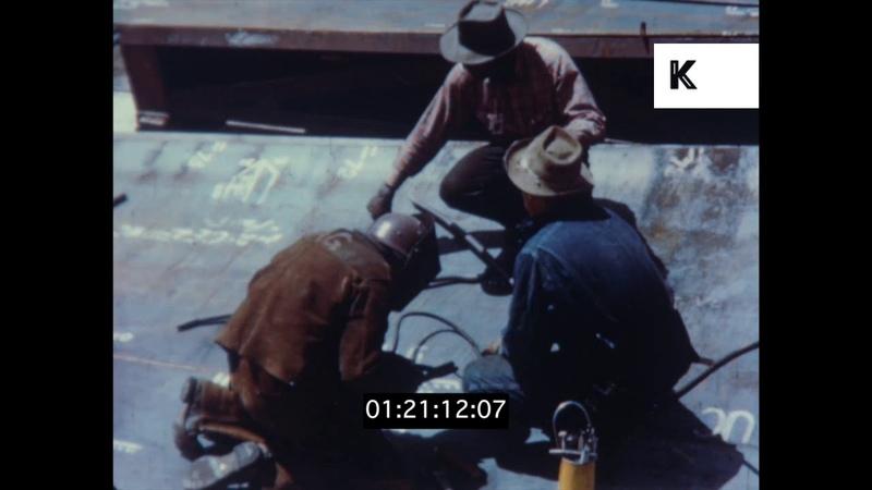 California Shipyards During WWII, Shipbuilding, 1940s USA