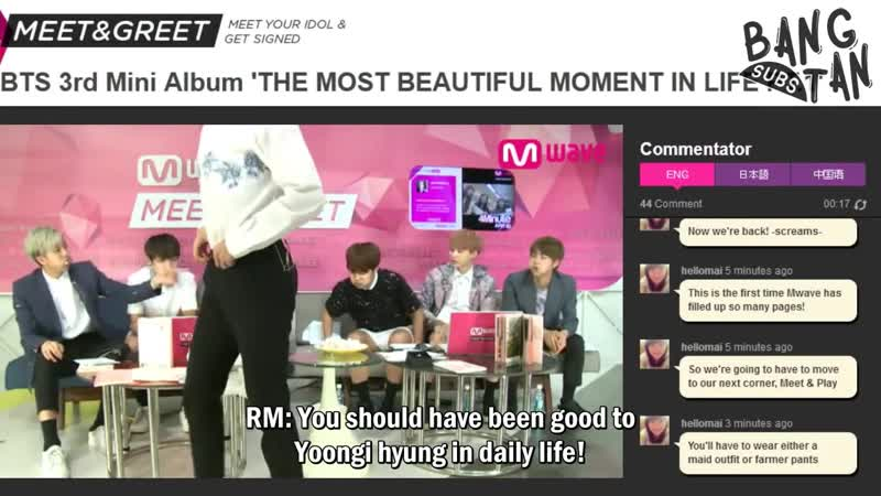 150603 BTS Mnet Meet Greet Eng Sub