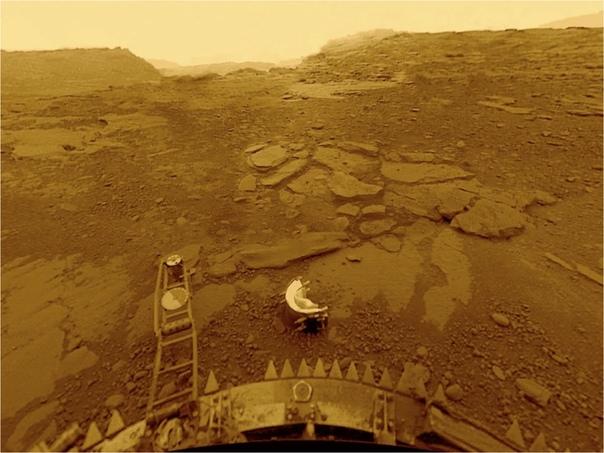 Фотография поверхности Венеры с космического корабля «Венера-13», 1 марта 1982