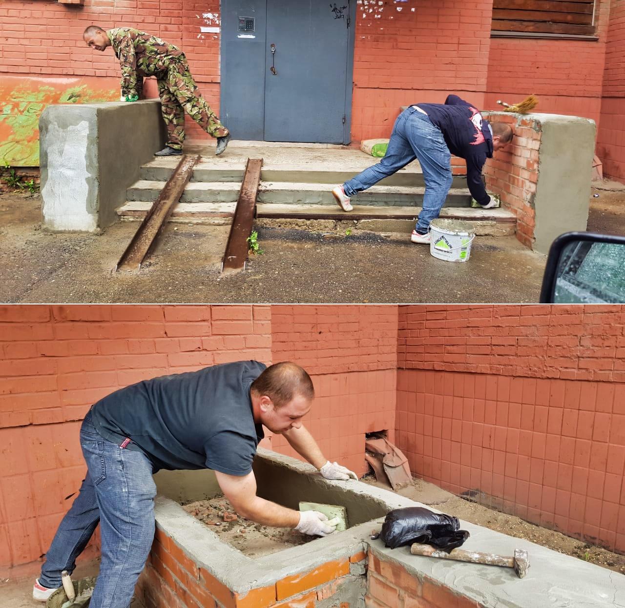 Заканчиваем ремонт крыльца в Северном, 33