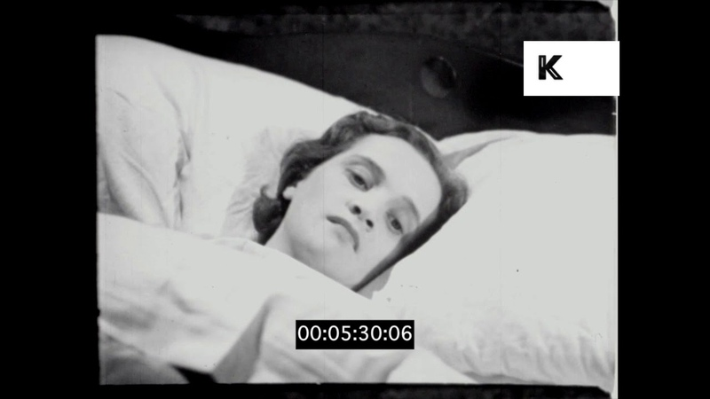 Nurse Treats Sick Woman 1930s 1940s UK Hospital HD