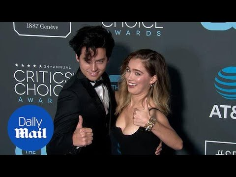 Haley Lu Richardson and Cole Sprouse at 2019 Critics Choice
