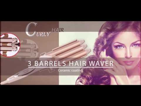 HOW TO MERMAID CURLS 3 BARREL CURLING IRON candyloveart