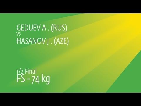 1/2 FS - 74 kg: A. GEDUEV (RUS) df. J. HASANOV (AZE), 5-4