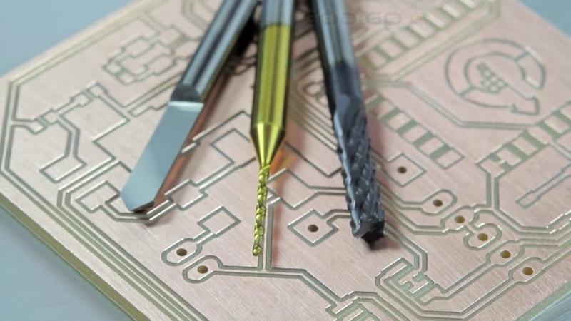 Usinagem de placa de circuito impresso com fresa Vbit de 90 graus Fresa para PCB