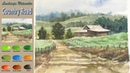 Without Sketch Landscape Watercolor - Country Road (wet-in-wet, Arches rough) NAMIL ART
