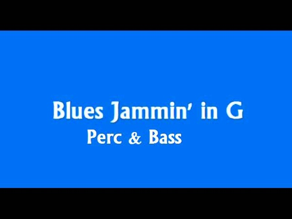 Blues Backing Track in G (Perc Bass)\ Jam Time Project (in Description)