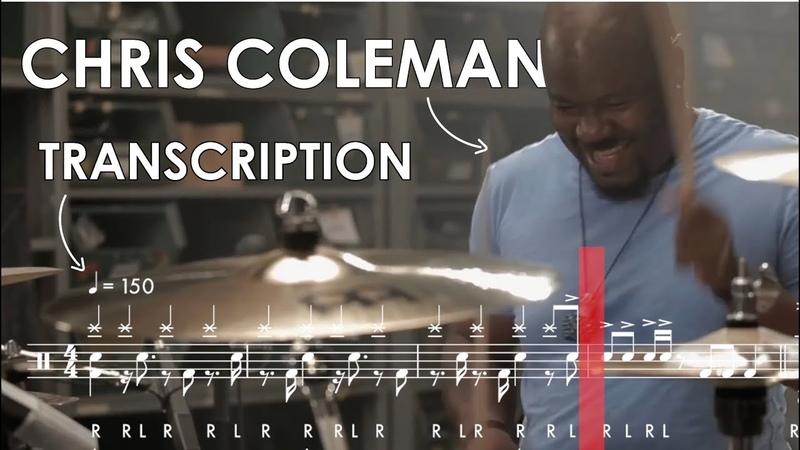 Chris Coleman Drum Transcription Birch Infinite Performance Video Series