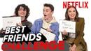 Stranger Things 3 Best Friends Challenge Millie Finn Noah Netflix