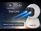 KONLEN PTZ IP-камера WI-FI ДВОЙНОЙ Объектив 2-мегапиксельная Автоматическое слежение за зумом 1080P HD Крытый Домашний Pet CCTV